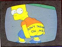 image of Bart Simpson mooning