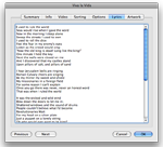 display lyrics in iTunes