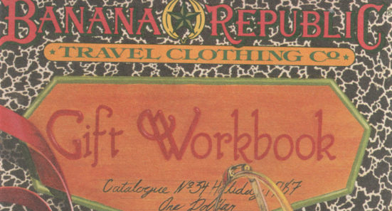 Banana Republic 1987 Holiday Gift Workbook