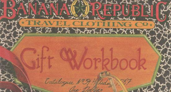 Banana Republic 1987 Holiday Gift Workbook